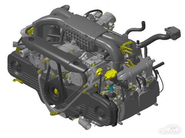 2.5ℓ水平対向4気筒 DOHCターボエンジン